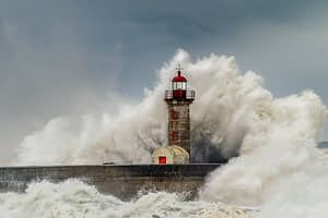 It was a stormy afternoon at Porto