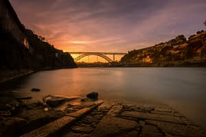 sunset river Douro