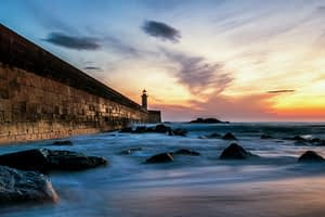 A saturday afternoon sunset near one of Porto's lighthouses